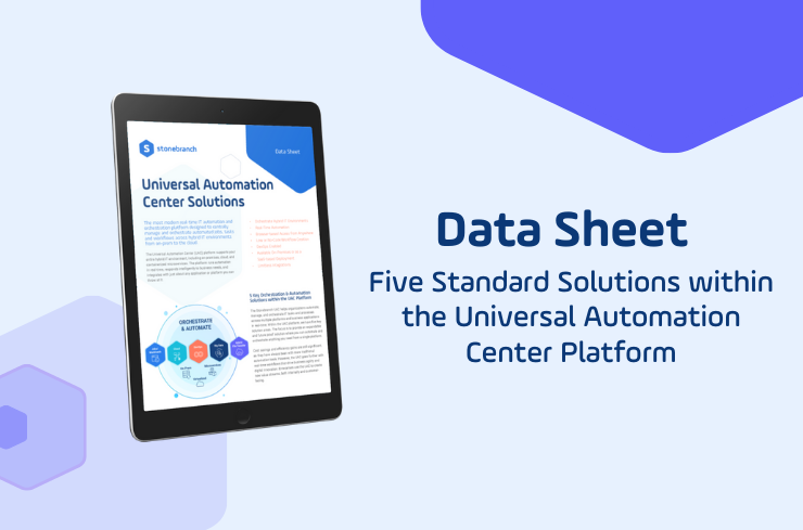 Five Standard Solutions within the Universal Automation Center (UAC) Platform Download Data Sheet