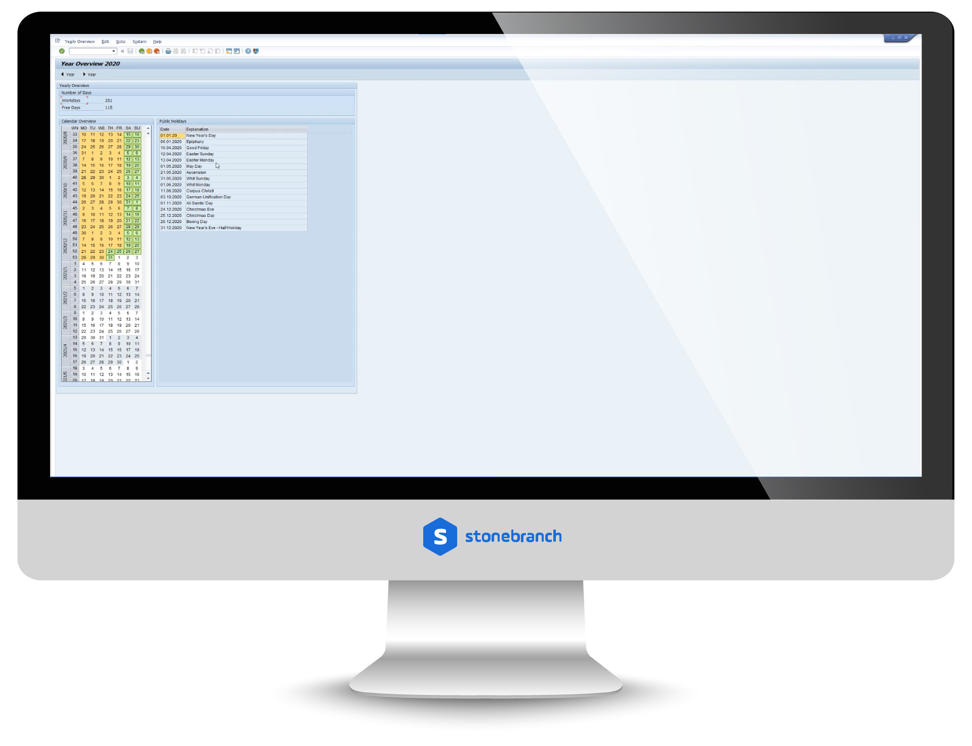 SAP: Calendar Import